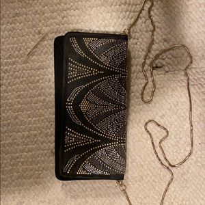 White House Black Market Black Clutch Bag